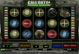 Call of Duty 4 Slot Screenshot