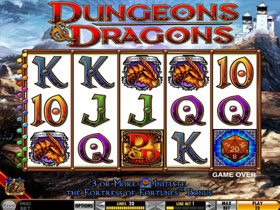 Dungeons and Dragons Fortress of Fortunes Slot Screenshot