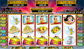 Screenshot of Alladins Wishes Slot