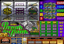 Quest break da bank microgaming slot game yahtzee jackpots tunica